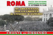 ROMA 25 SETTEMBRE: APPELLO